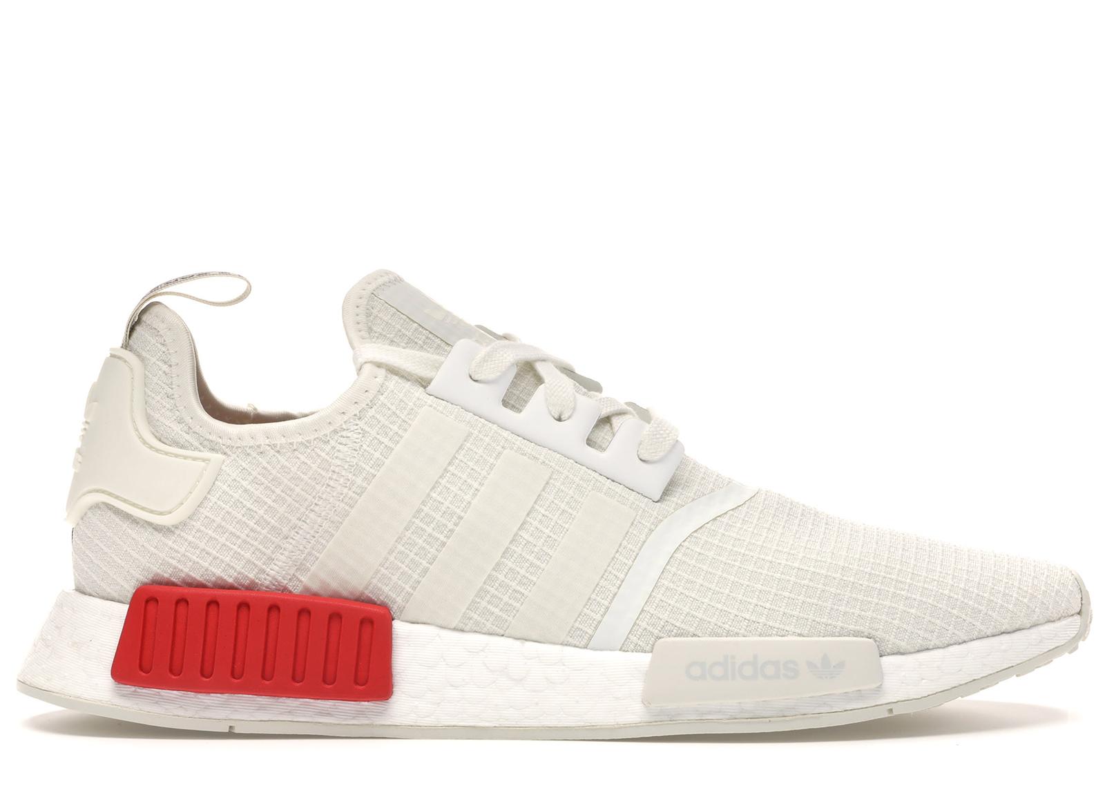 adidas NMD R1 White Red | B37619