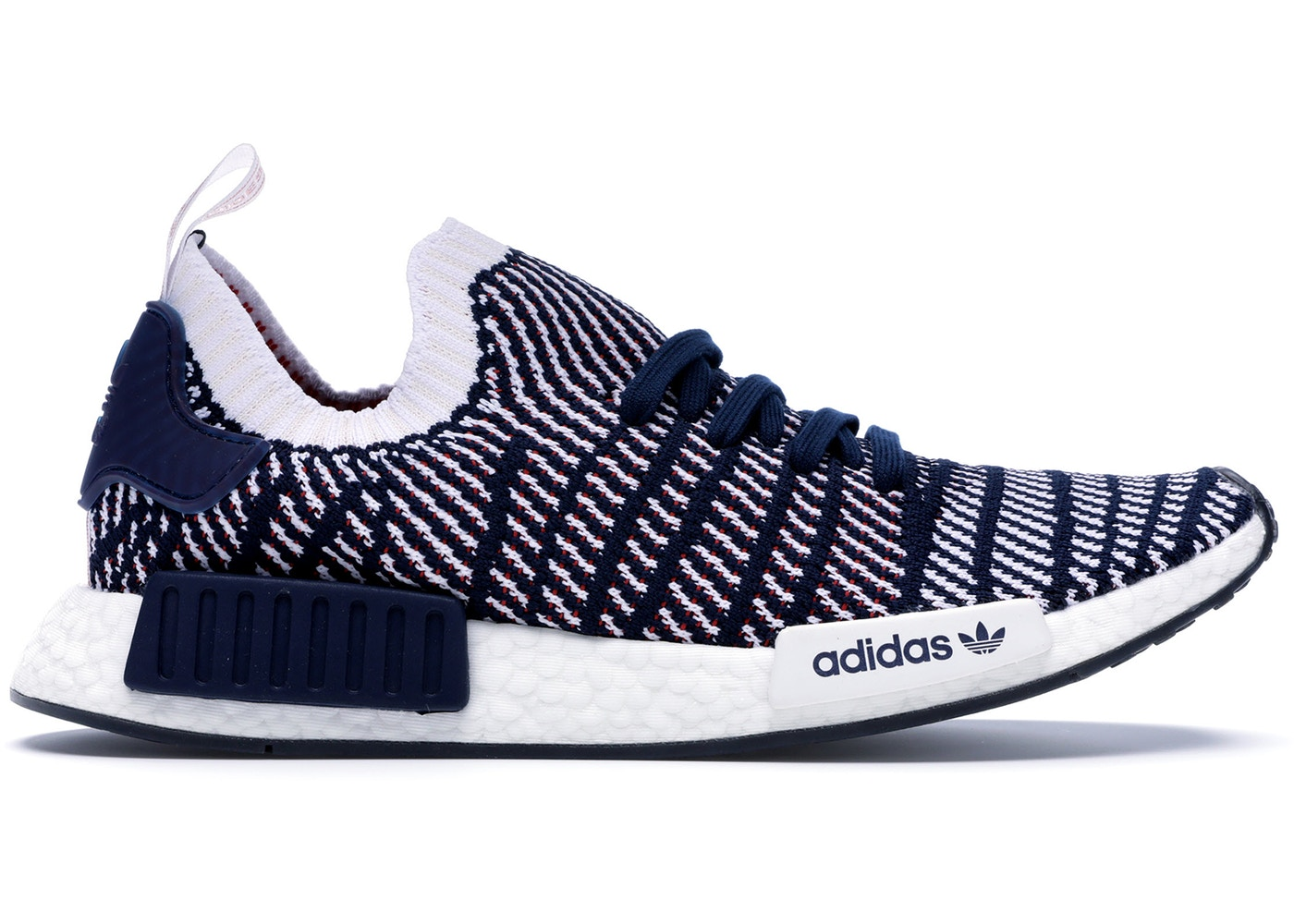 9266cca18 adidas NMD R1 STLT Navy White Red - D96821