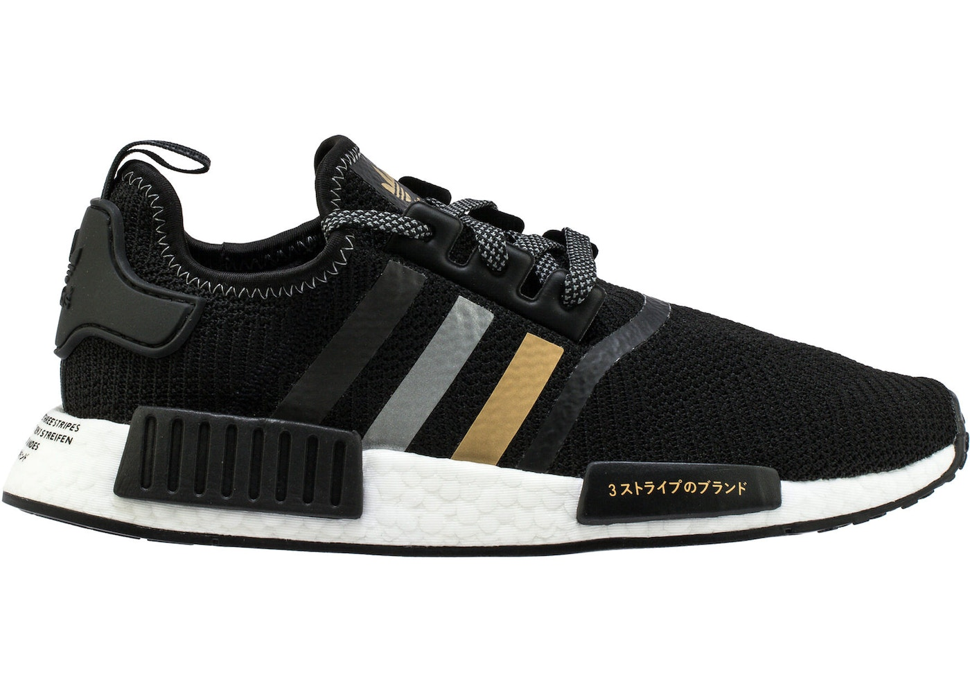Adidas Nmd R1 Shoe Palace Black And Gold Eh2749