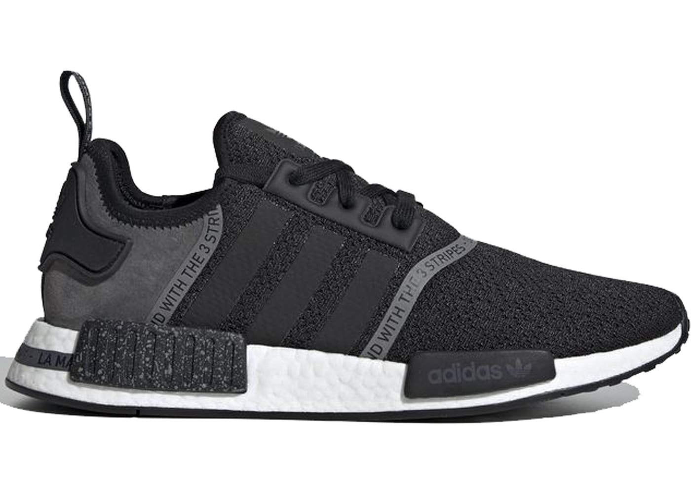 adidas nmd r1 white black speckle