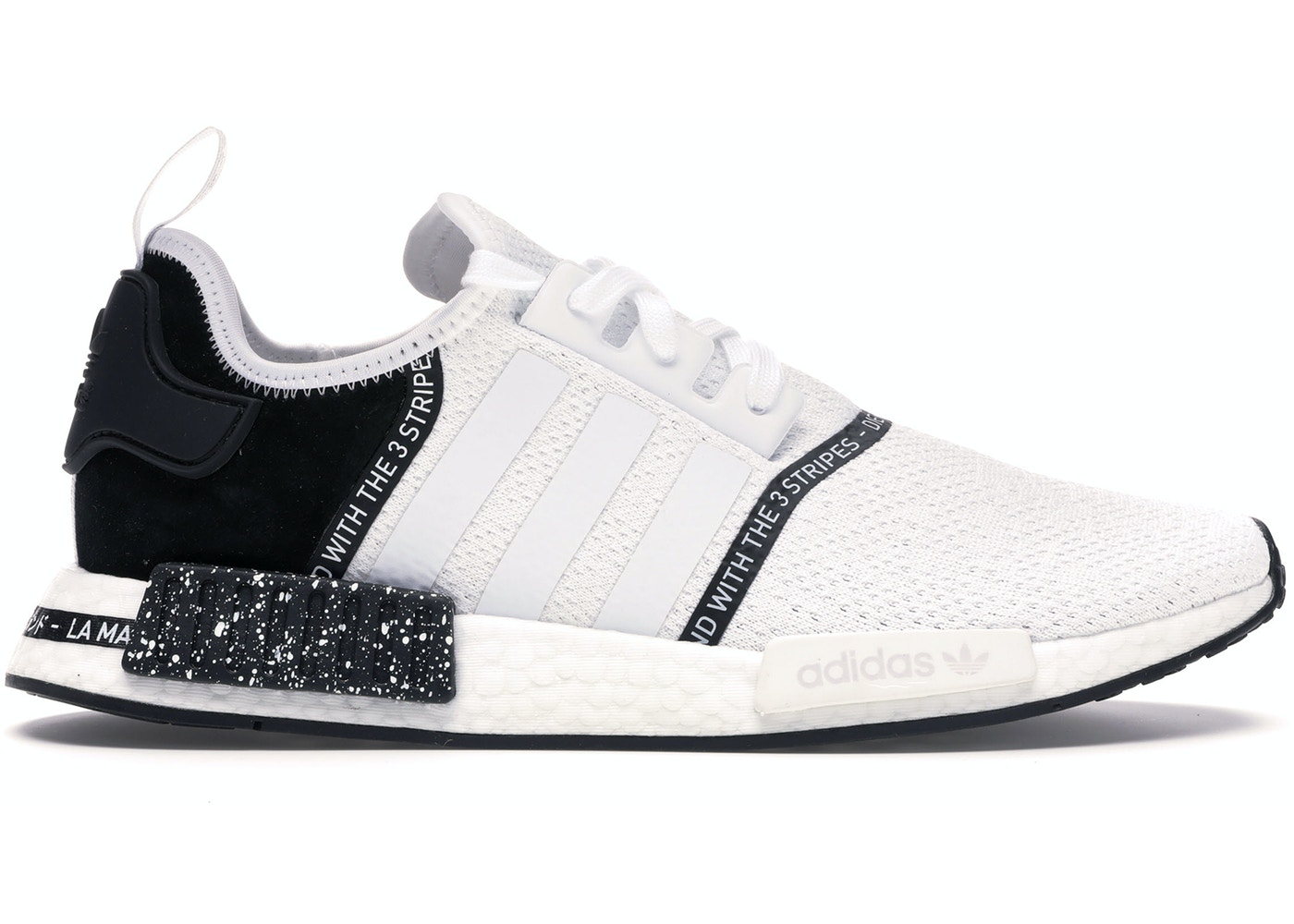 new style 9f50c 5cd4a adidas NMD R1 Speckle Pack White