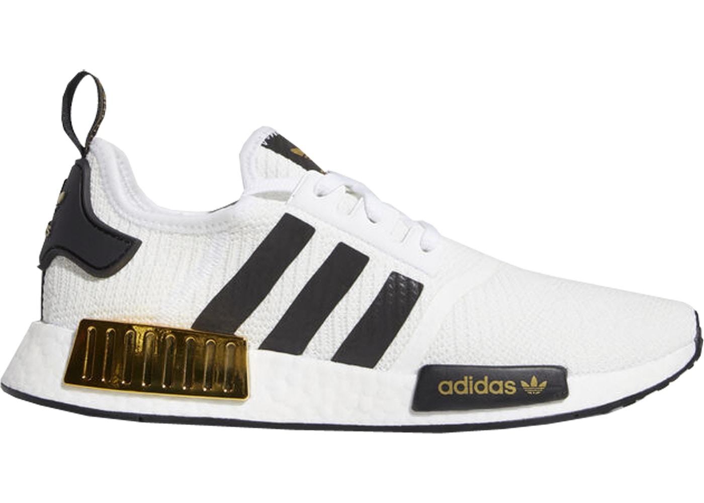 Adidas Nmd R1 White Black Gold Eg5662