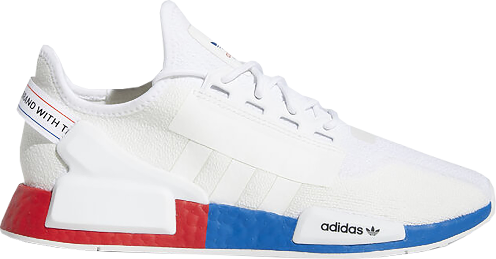 adidas NMD R1 White Red Blue - FX4148