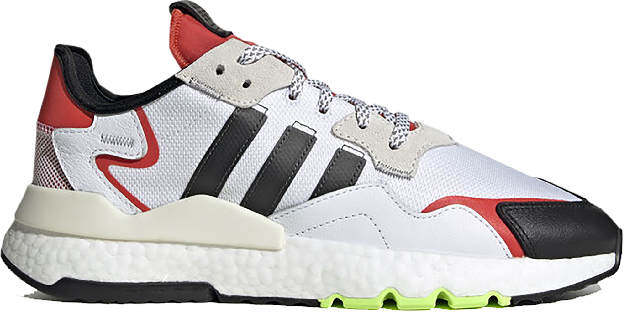 adidas Nite Jogger White Black Red - EH1293