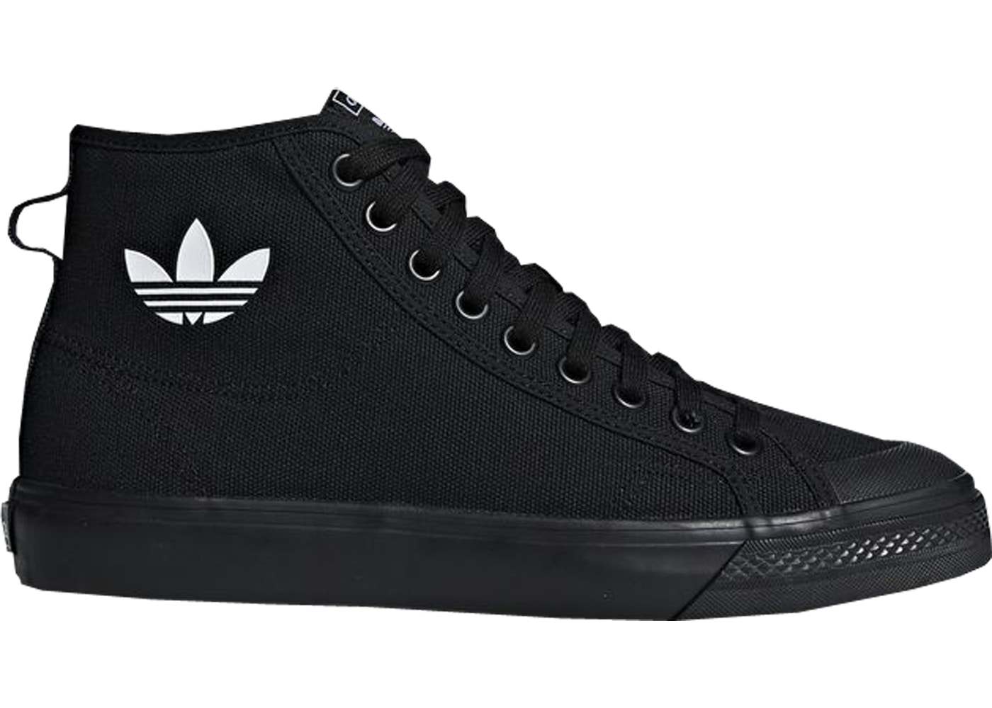 sale retailer b315e edc27 adidas Nizza Hi Core Black - B41651