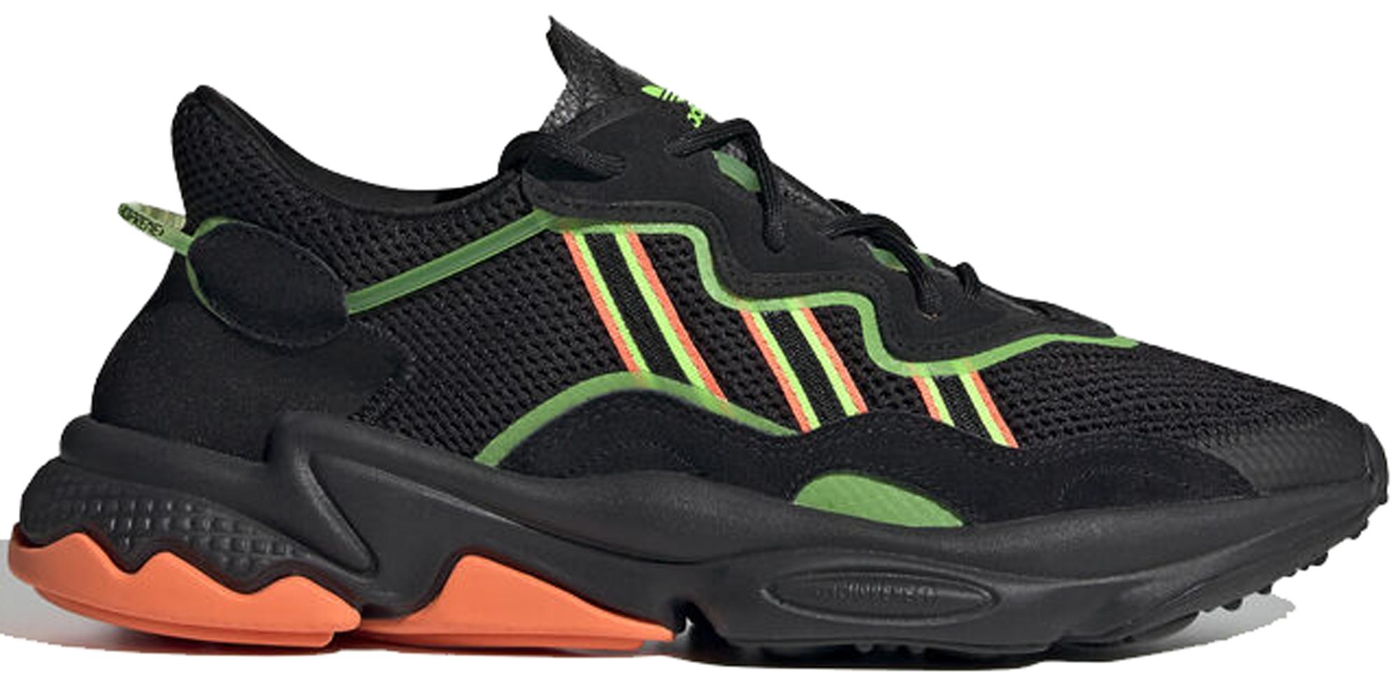 adidas Ozweego Black Orange Green - EE5696
