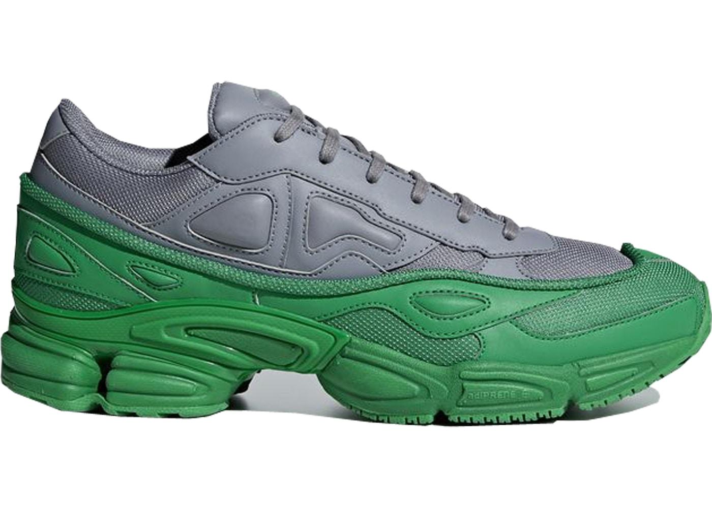 on sale 75ae5 80d9d adidas Ozweego Raf Simons Green Grey