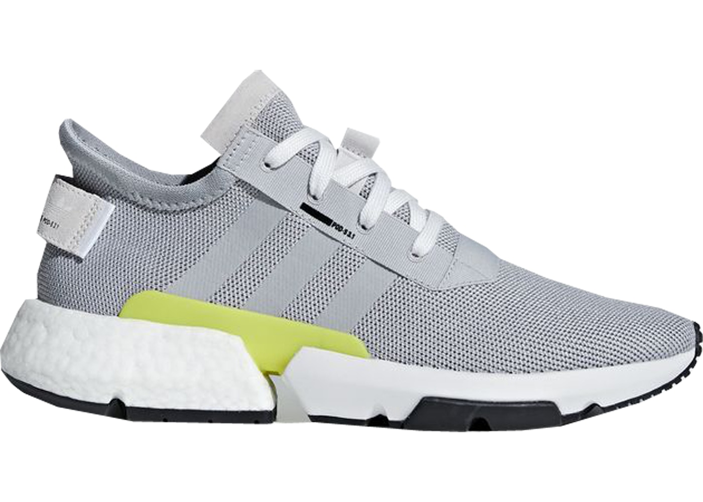 on sale 542cb 2ad67 adidas POD-S3.1 Grey Two Shock Yellow