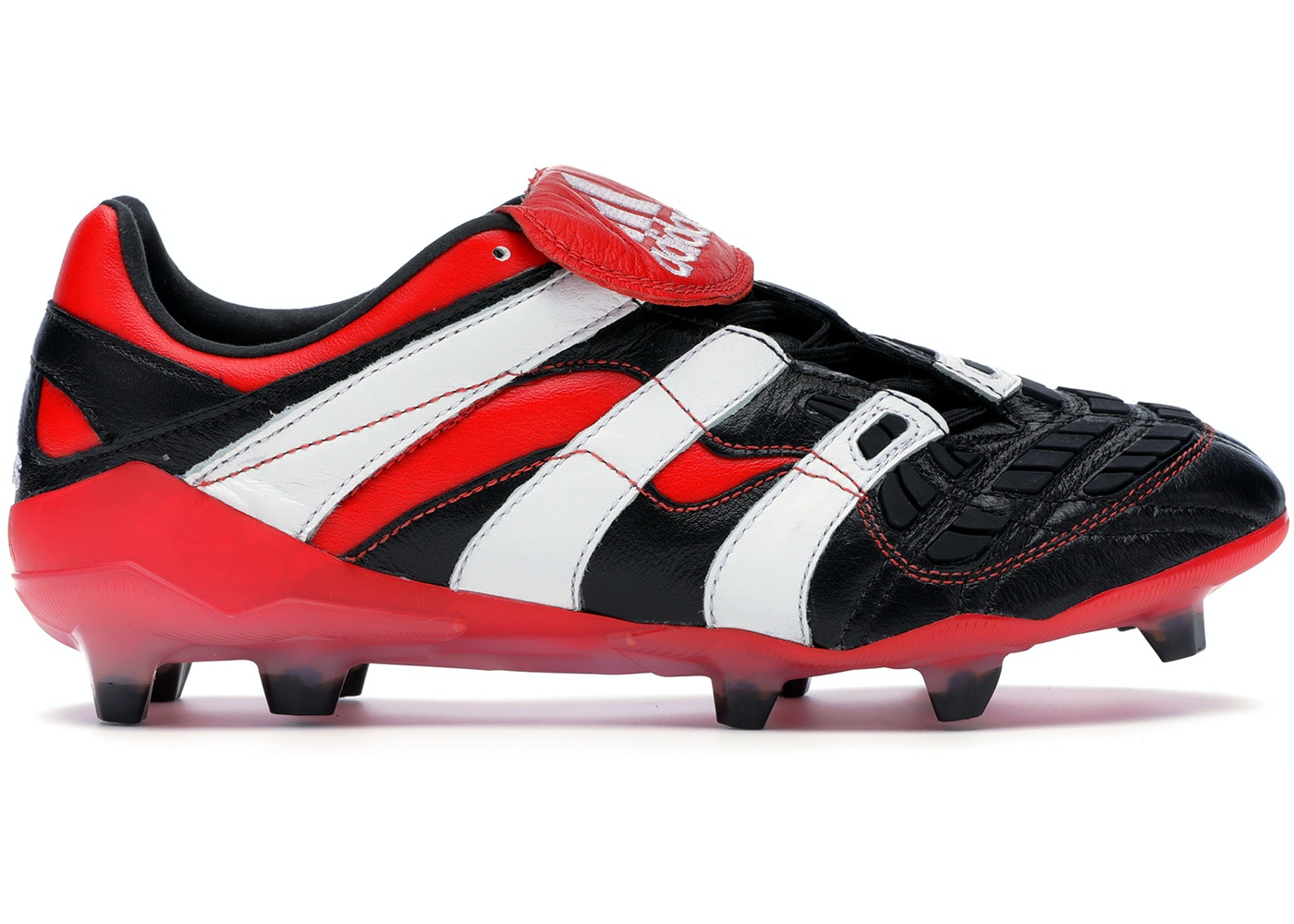 pas mal dcd60 b96ec adidas Predator Accelerator Firm Ground Cleat Black White Red