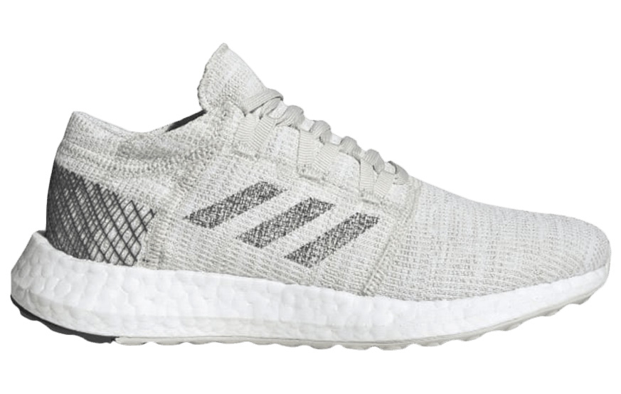 Adidas Originals Adidas Pureboost Go Non Dyed Grey (youth) In Non Dyed/grey Six/raw White