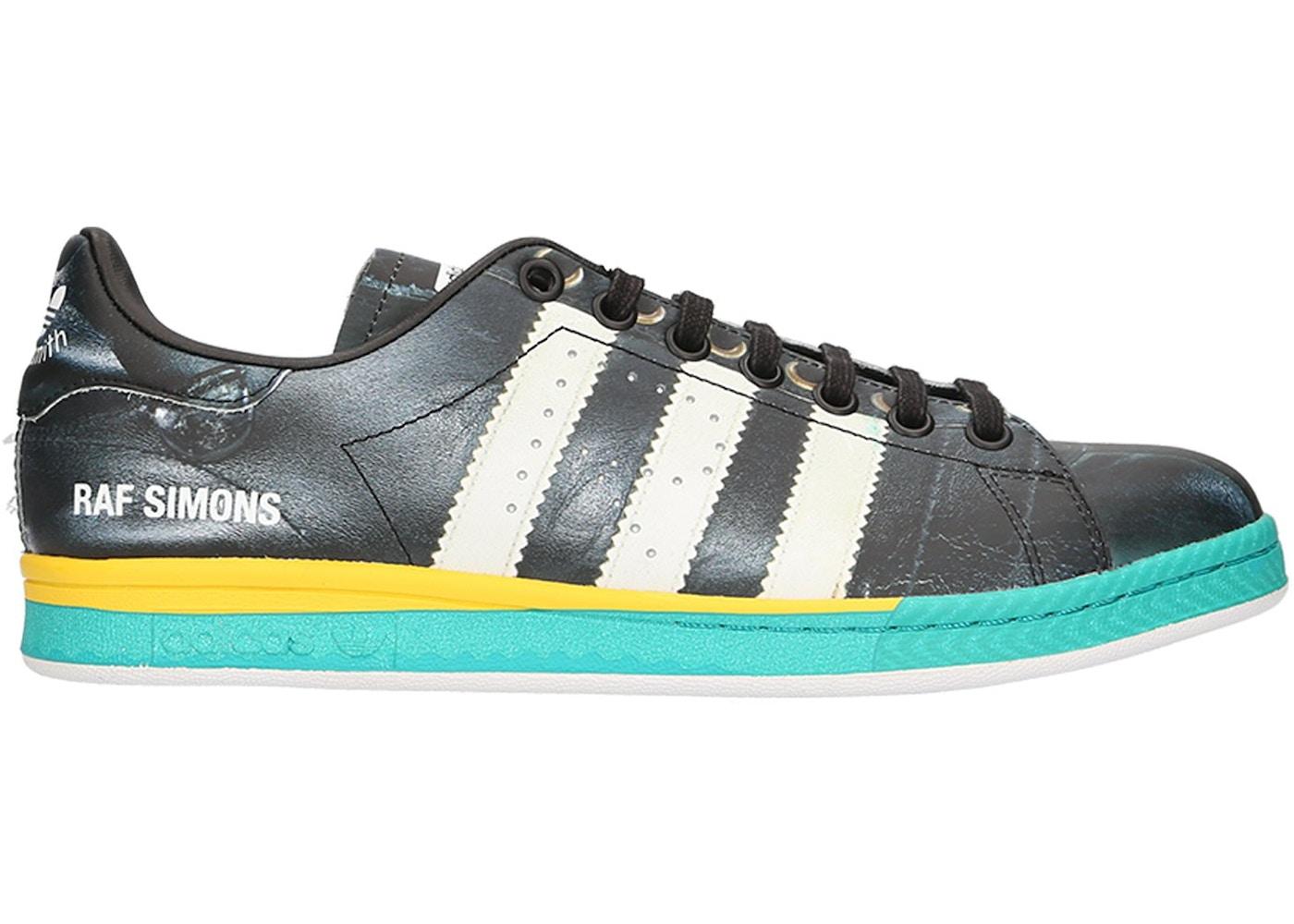 sports shoes 67eca cfe05 adidas Samba Stan Smith Raf Simons Black White Bright Blue