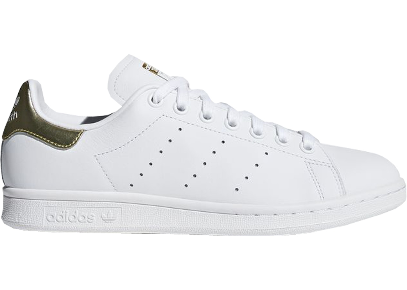 cheaper 94a2a 6b52c adidas Stan Smith Cloud White Gold Metallic (W)