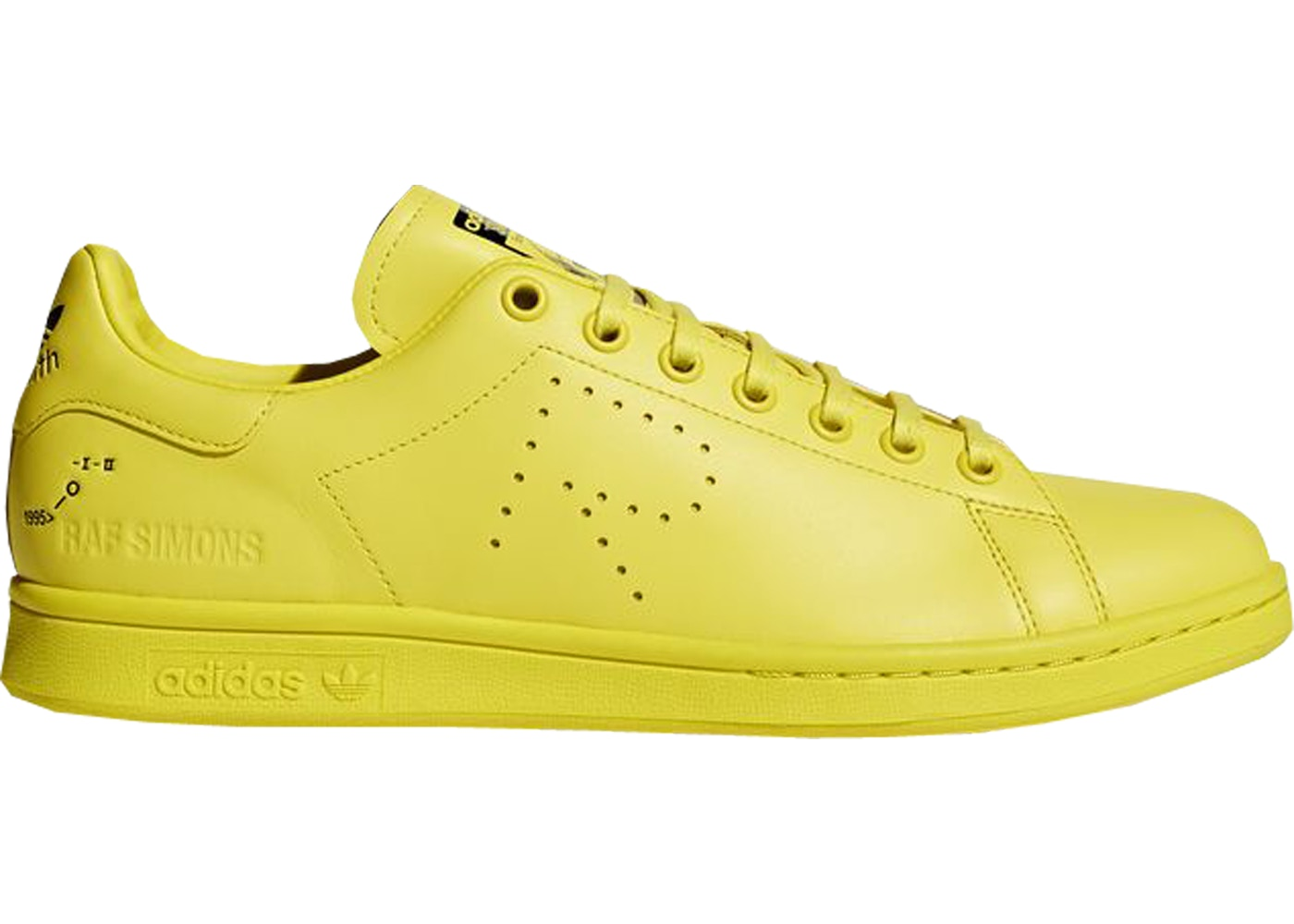 entire collection detailing quality products adidas Stan Smith Raf Simons Bright Yellow