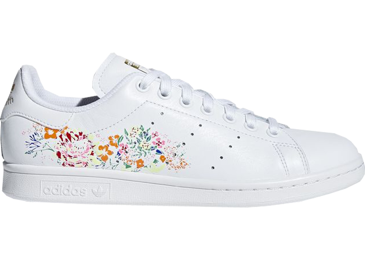 release date 47161 f11f6 adidas Stan Smith White Floral (W) - BC0259