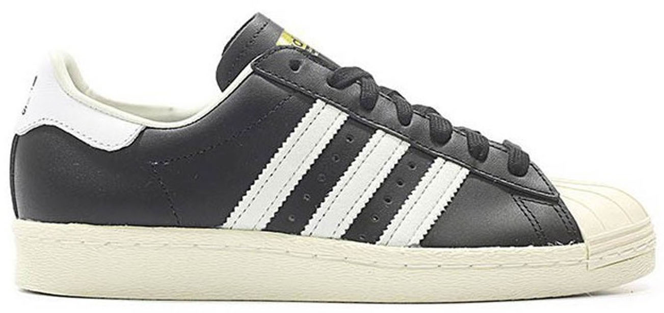 superstar 80s black white adidas