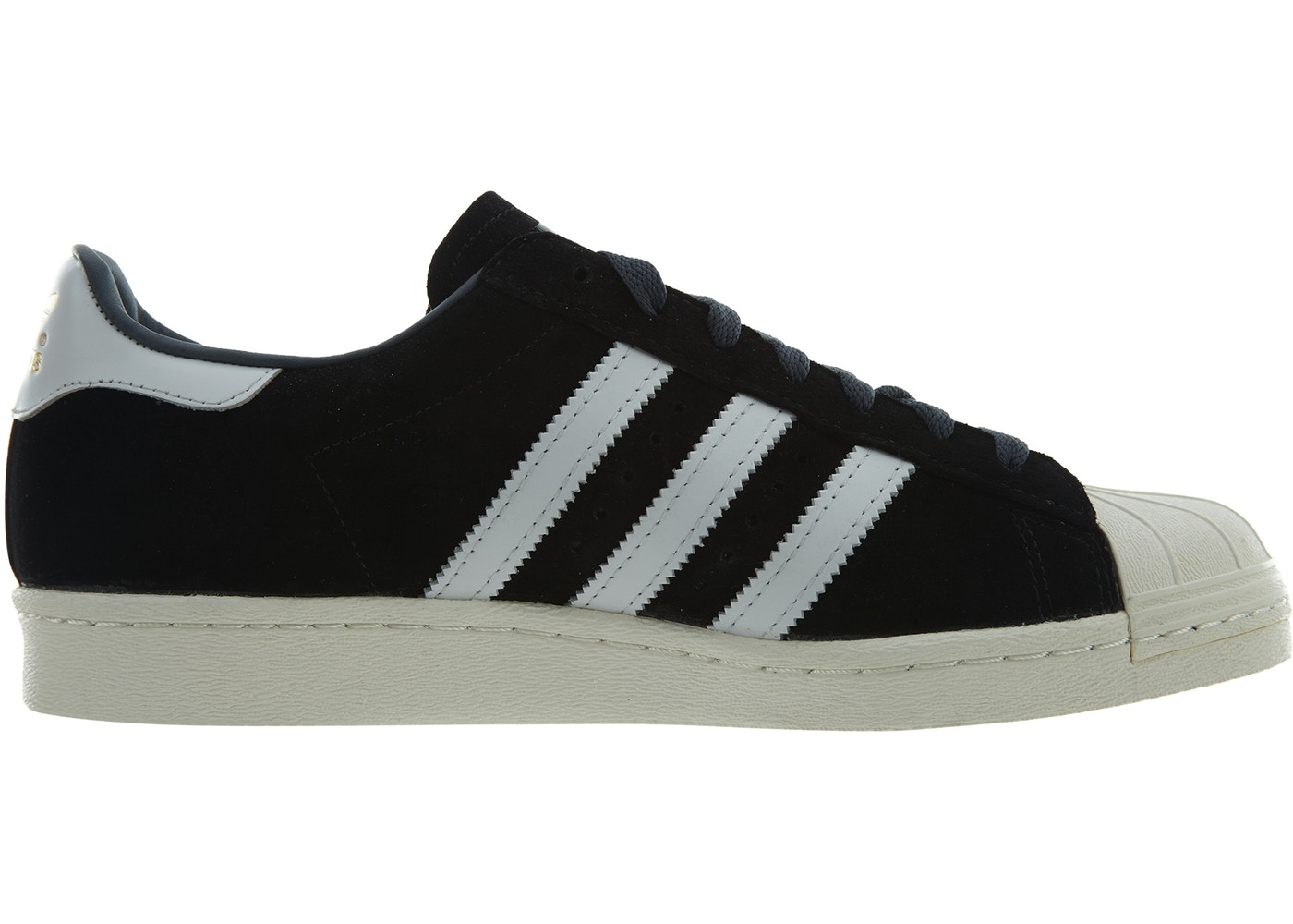 4624879d Sell. or Ask. Size: 9.5. View All Bids. adidas Superstar 80s Dlx Suede Black  White-Gold Metallic