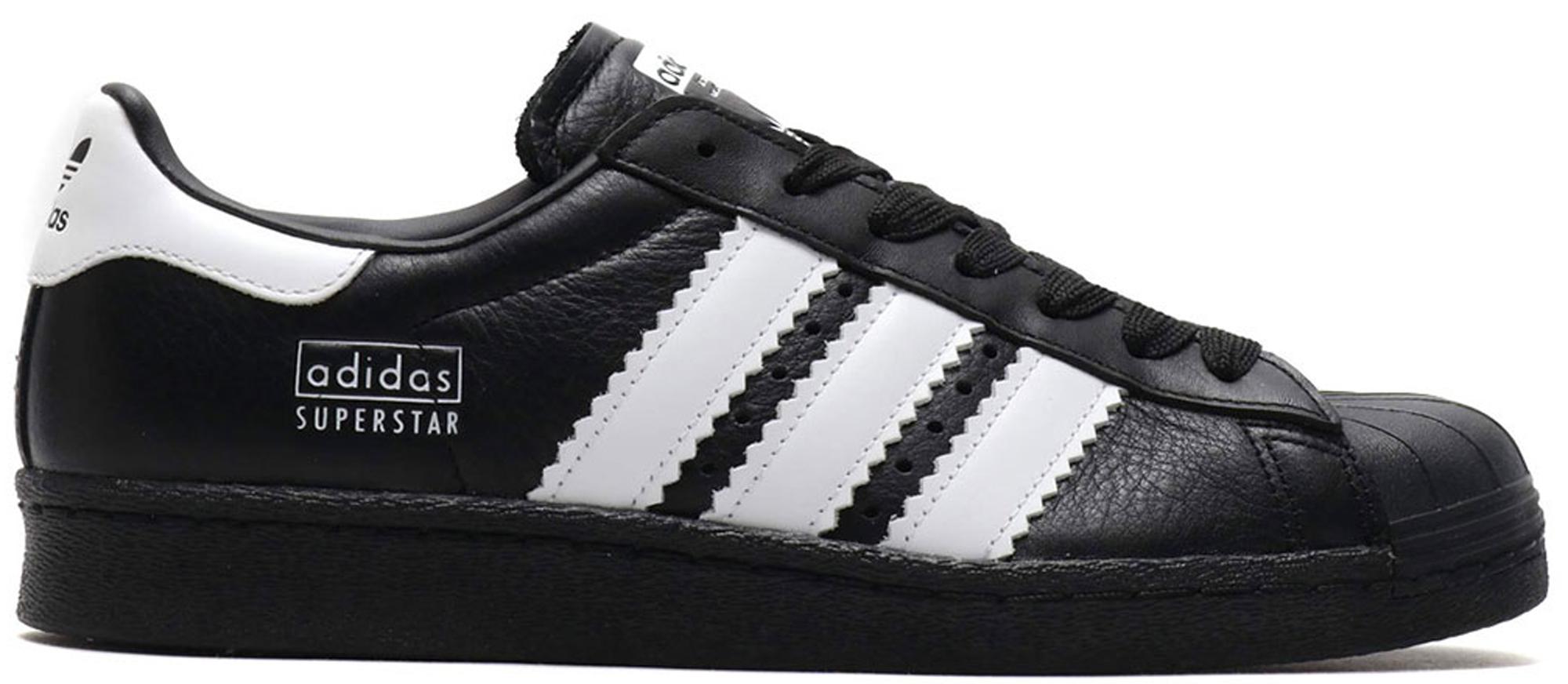 adidas Superstar 80s Enlarged Stripes Black