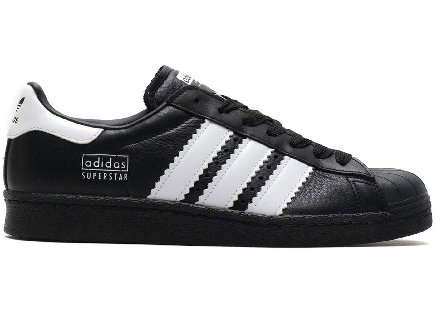 65adac85 adidas Superstar 80s Enlarged Stripes Black - BD7363