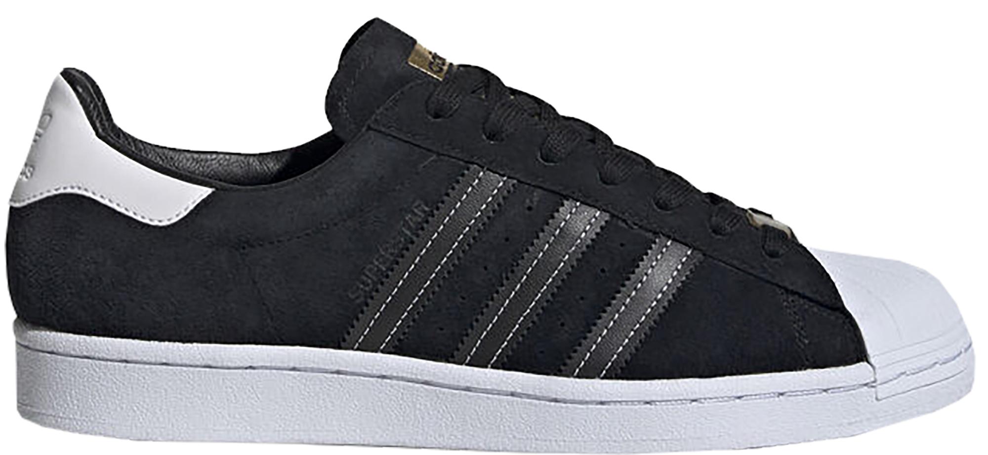 adidas Superstar Black Suede White - EH1543