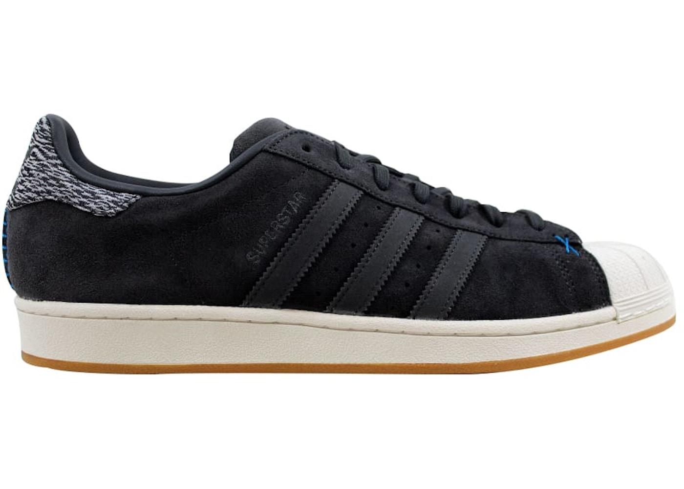 adidas Superstar Grey Suede White-Blue - B27573 381ba3ebf