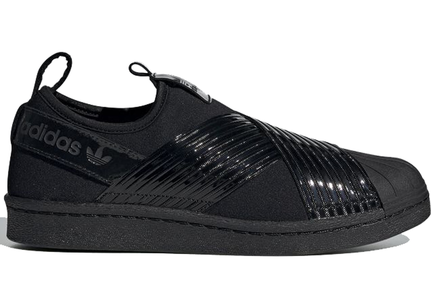 sports shoes 021e5 13da6 adidas Superstar Slip-On Triple Black (W)