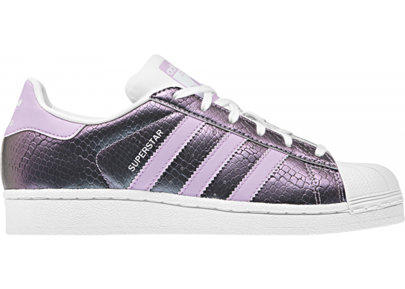 meilleur service 102be 9eb94 adidas Superstar Snake Clear Lilac (GS)