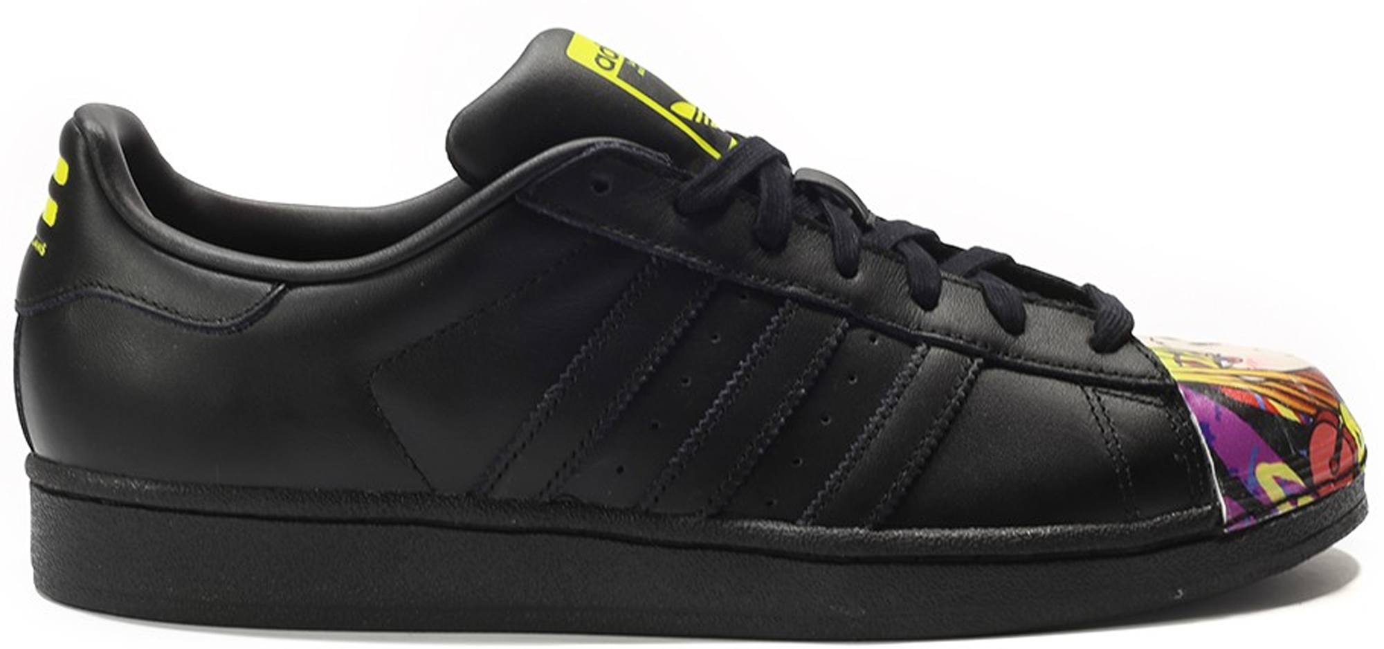 adidas superstar black and yellow