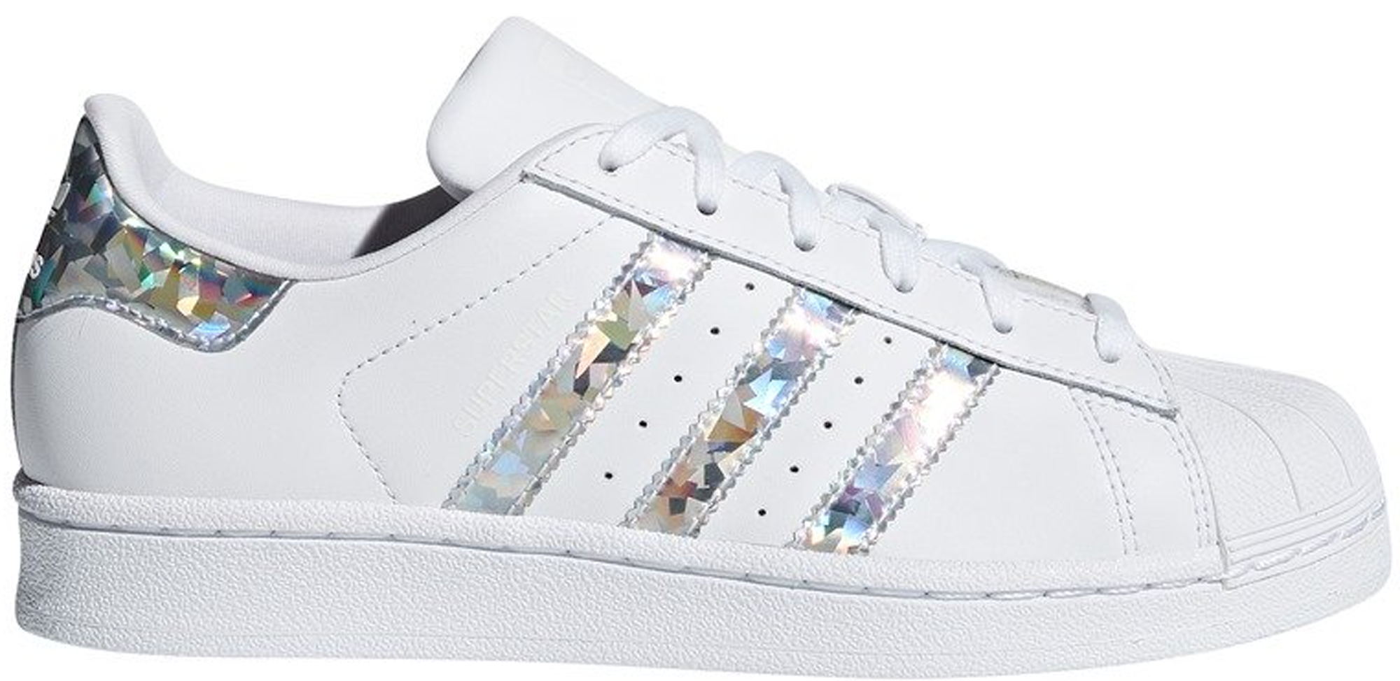 adidas Superstar White Holographic Stripes