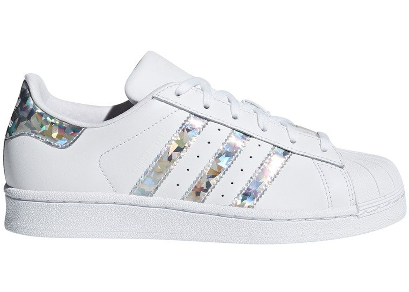wholesale dealer 86e4f 618d2 adidas Superstar White Holographic Stripes (GS)