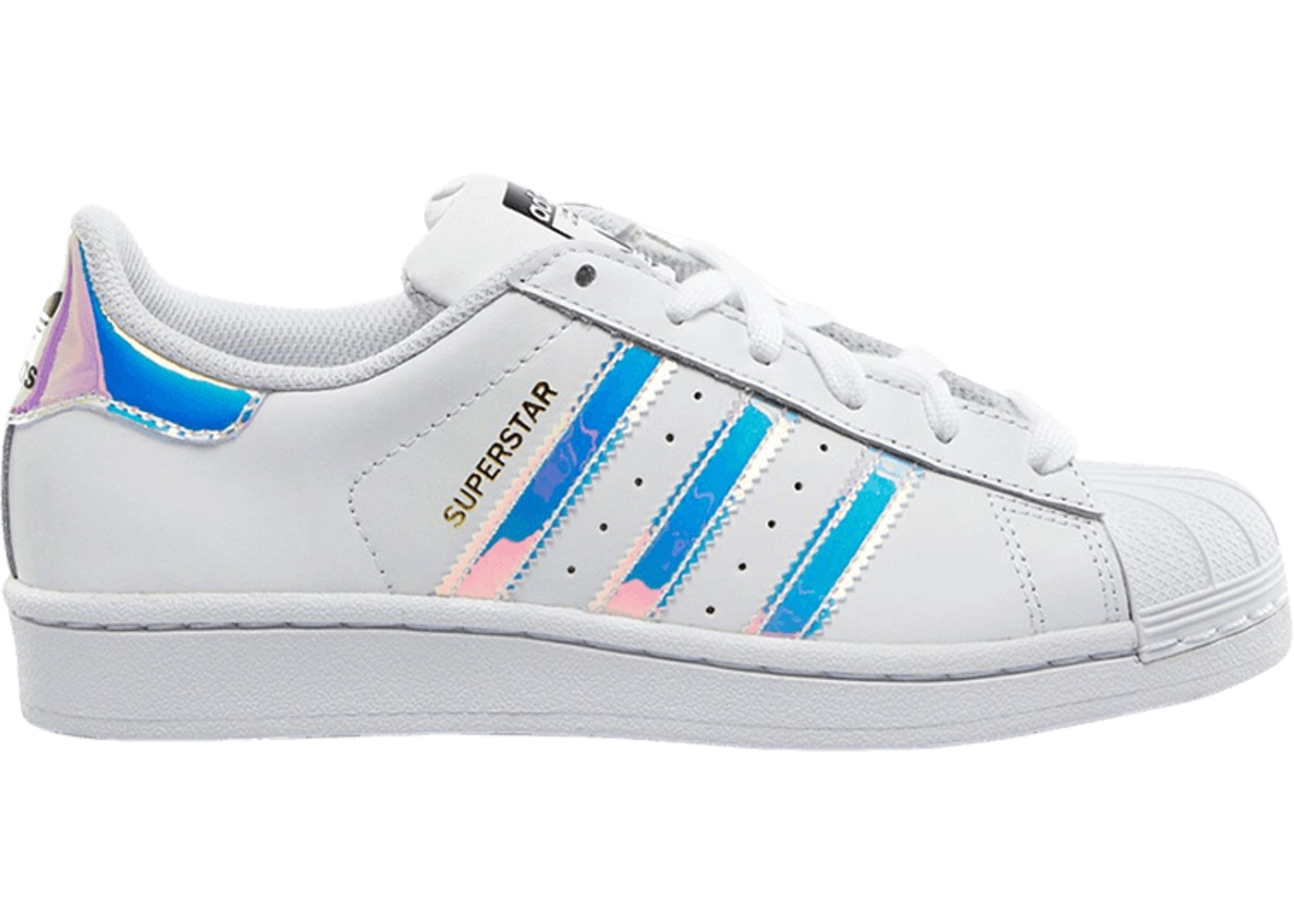 buy online c131f 595dd adidas Superstar White Iridescent (GS)