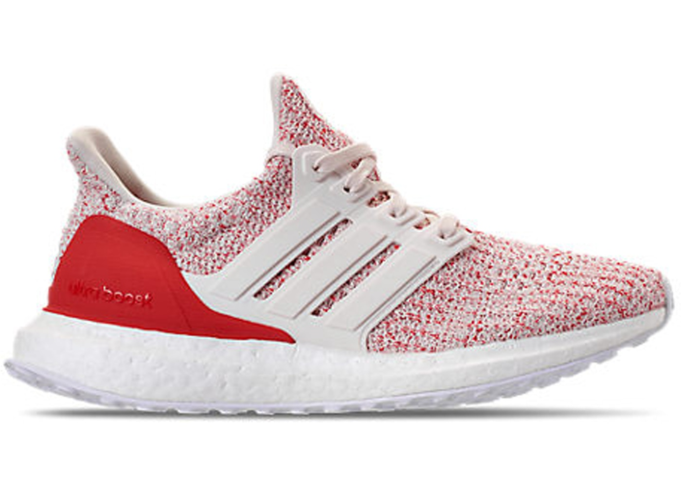 best service bcb69 e278c adidas Ultra Boost 4.0 Chalk White Active Red (GS)