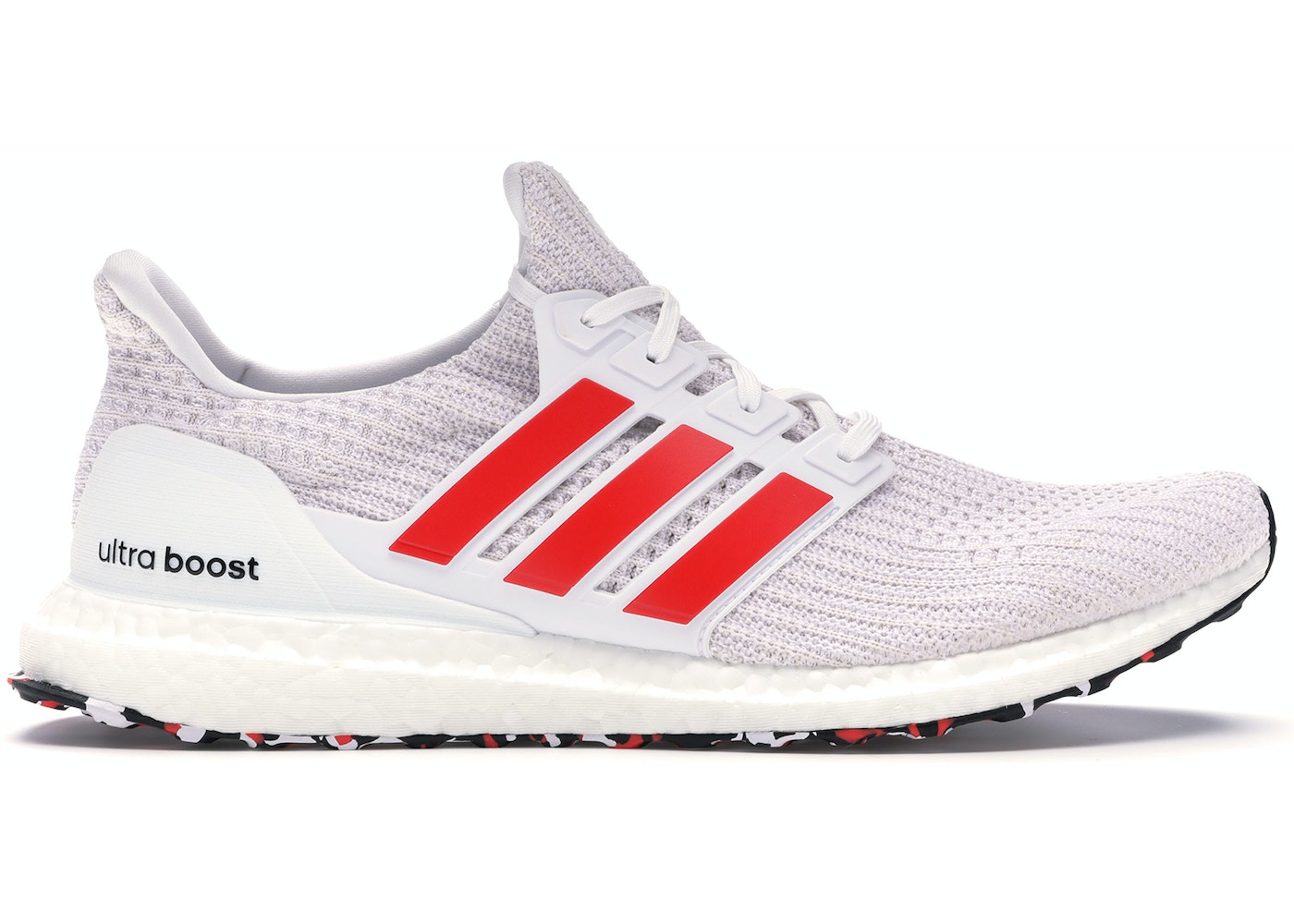 best loved 5af8a 9e90f adidas Ultra Boost 4.0 Cloud White Active Red