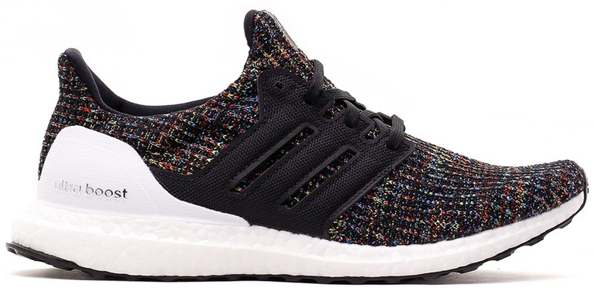adidas Ultra Boost 4.0 Black Multi-Color White Heel Cage