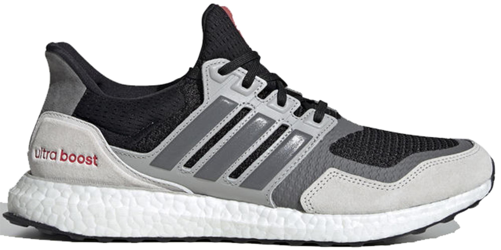 adidas Ultra Boost S&L Black Grey Four Red