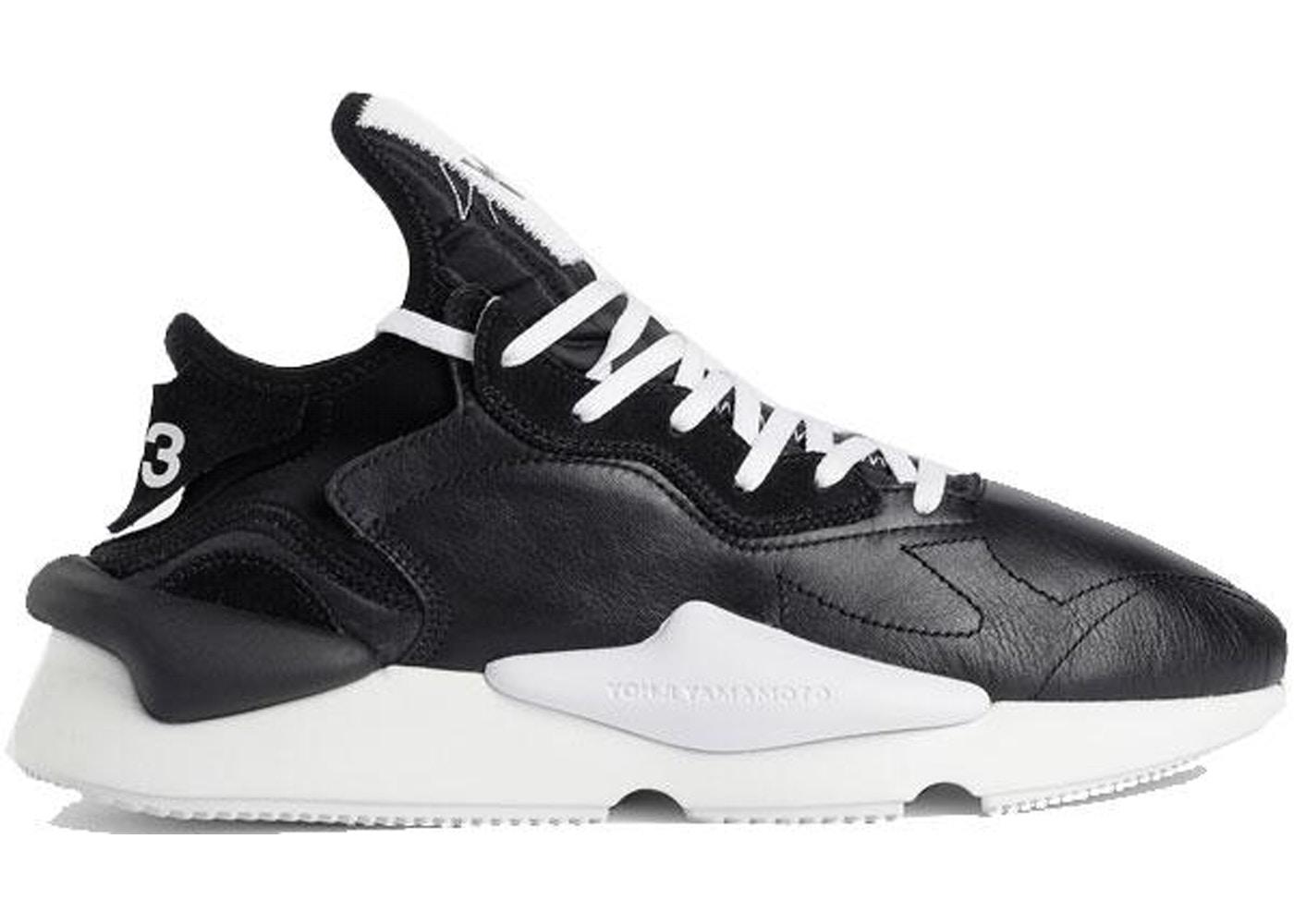 67b7e530c8e adidas Y-3 Kaiwa Black White Black Heel - F97415
