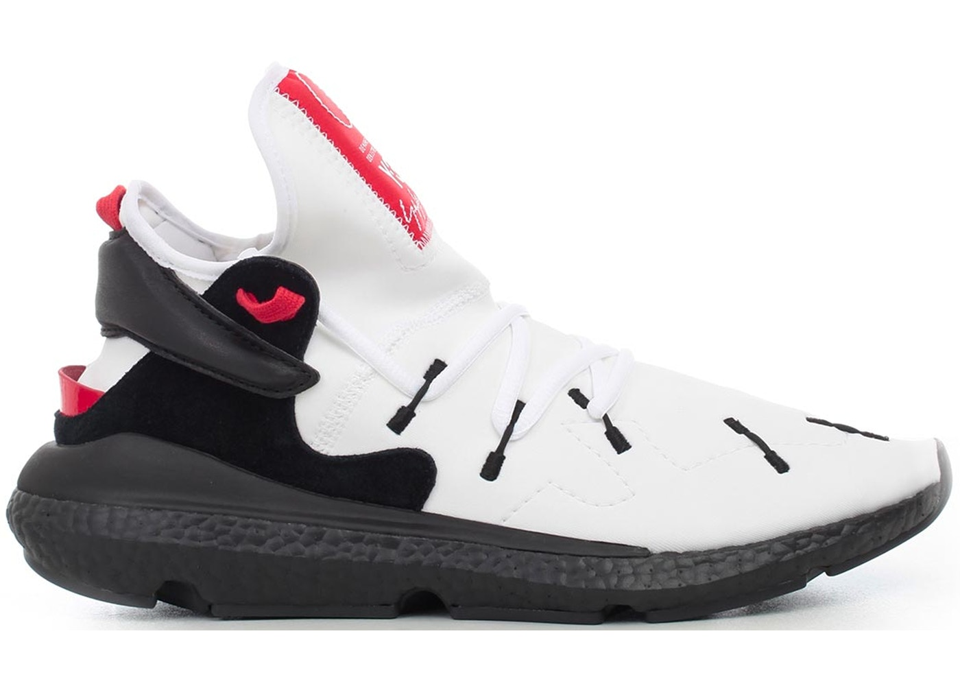 new product d1252 7a54d adidas Y-3 Kusari 2 White Black Red - BC0964