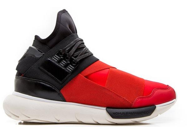 5ac172f05a89f adidas Y3 Qasa High Red Black - S83174