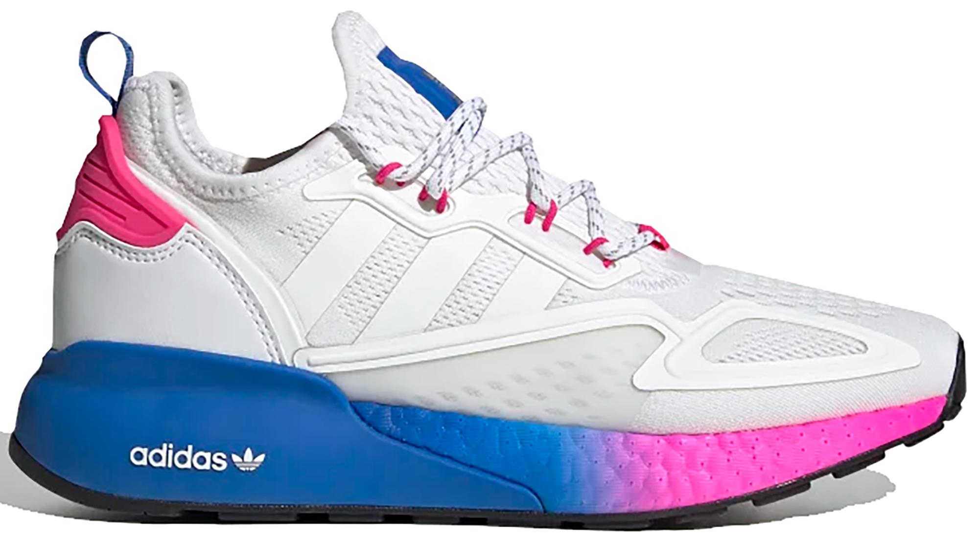 adidas ZX 2K Boost White Pink Blue (W