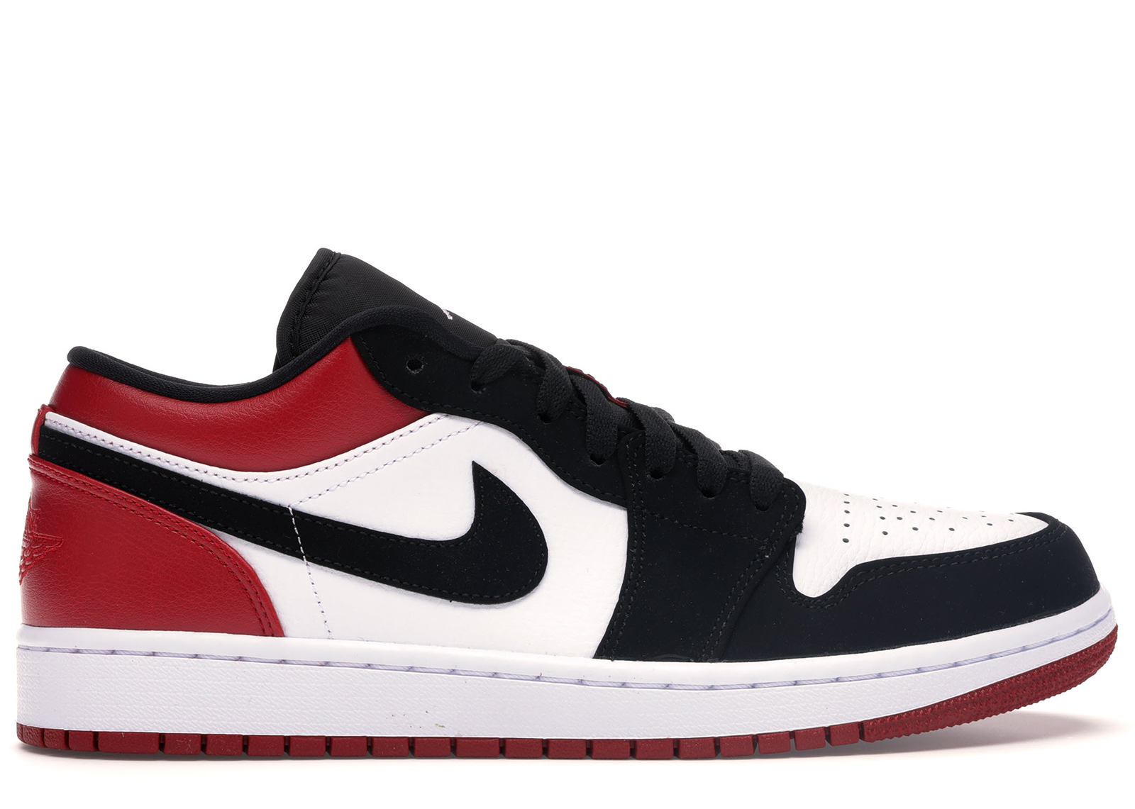 Jordan 1 Low Black Toe - 553558-116