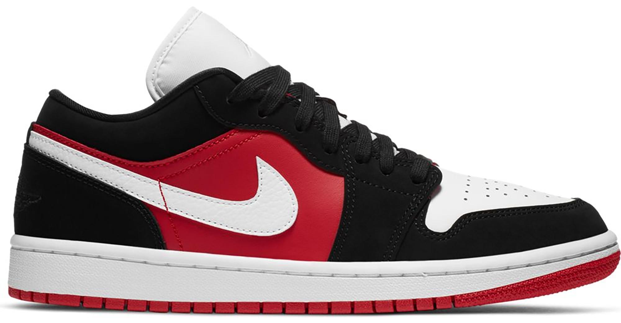 Jordan 1 Low Black White Gym Red (W