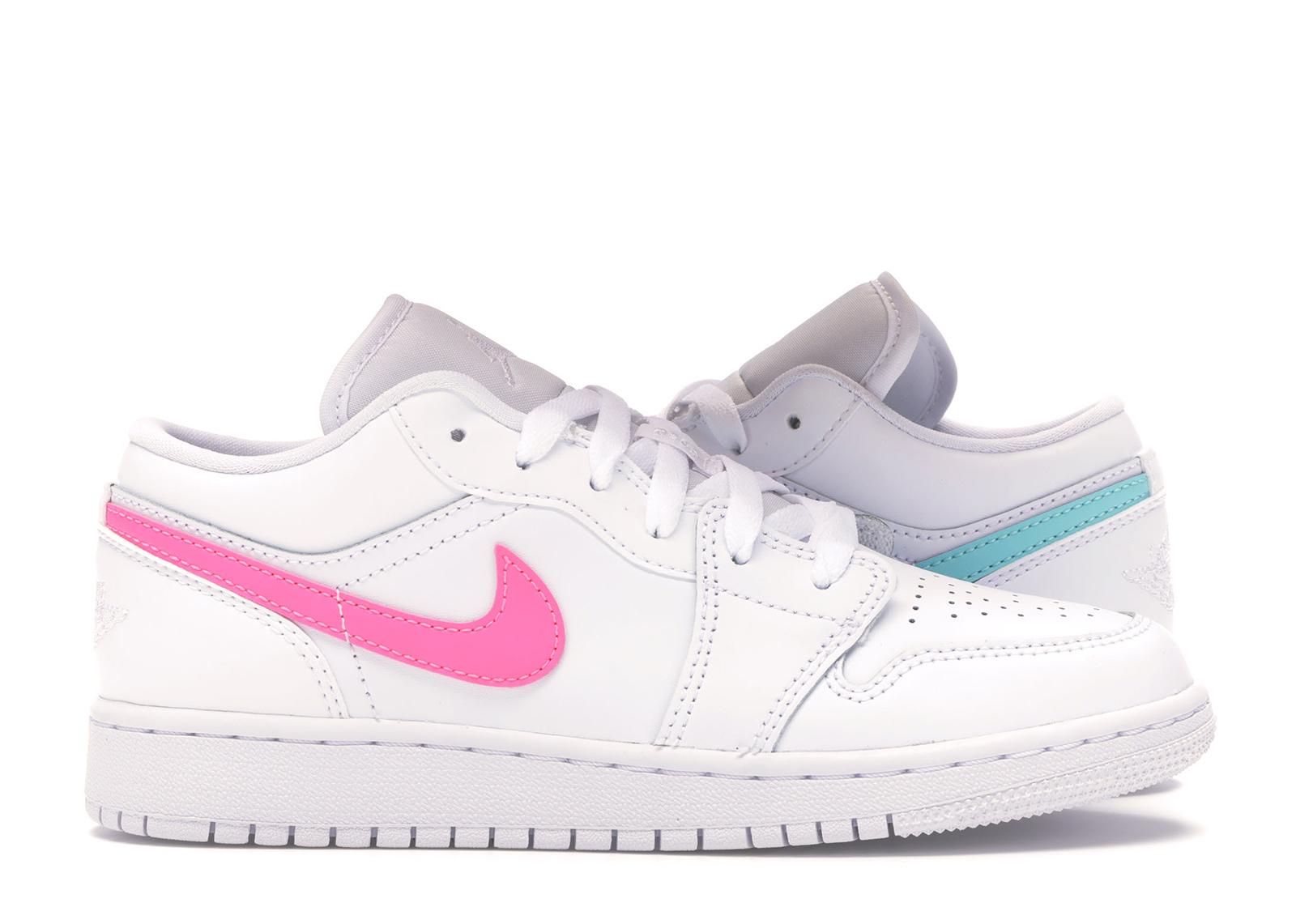 Jordan 1 Low White Neon (GS)