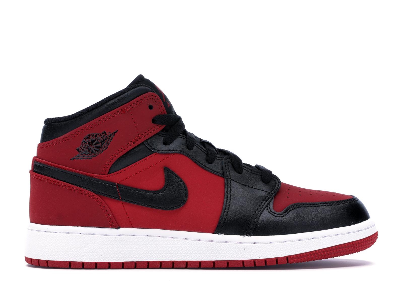 Jordan 1 Mid Gym Red Black (GS