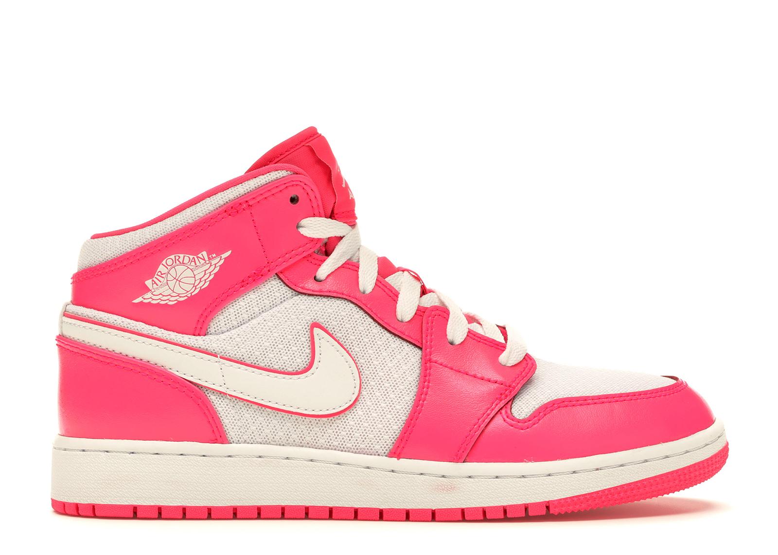 Jordan 1 Mid Hyper Pink White (GS