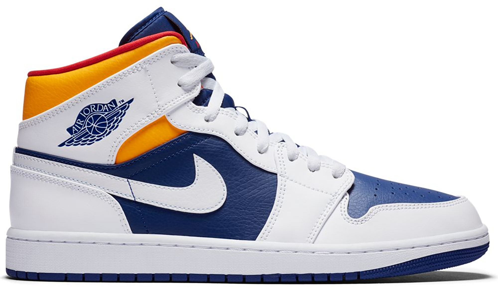 Jordan 1 Mid Royal Blue Laser Orange