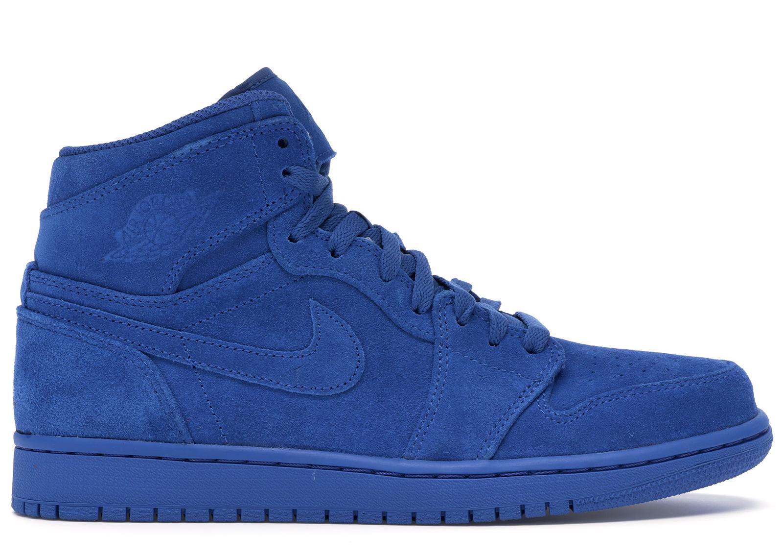 all blue jordan ones