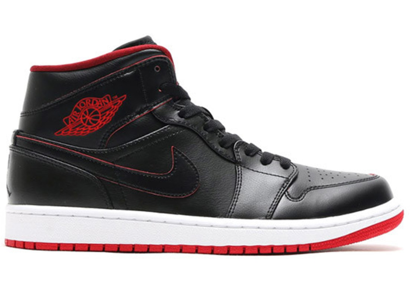 Jordan 1 Retro Mid Black Red White