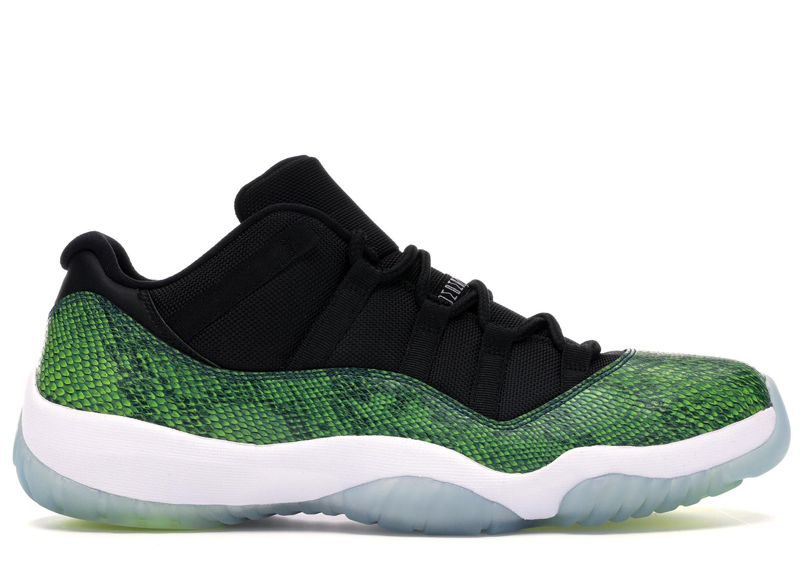 Jordan 11 Retro Low Green Snakeskin