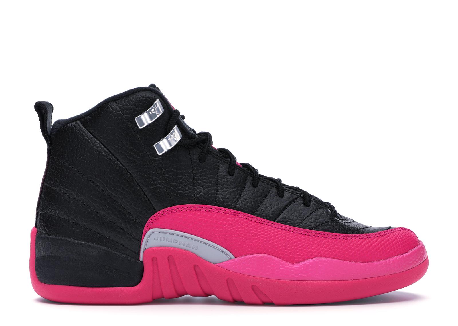 Jordan 12 Retro Black Deadly Pink (GS)