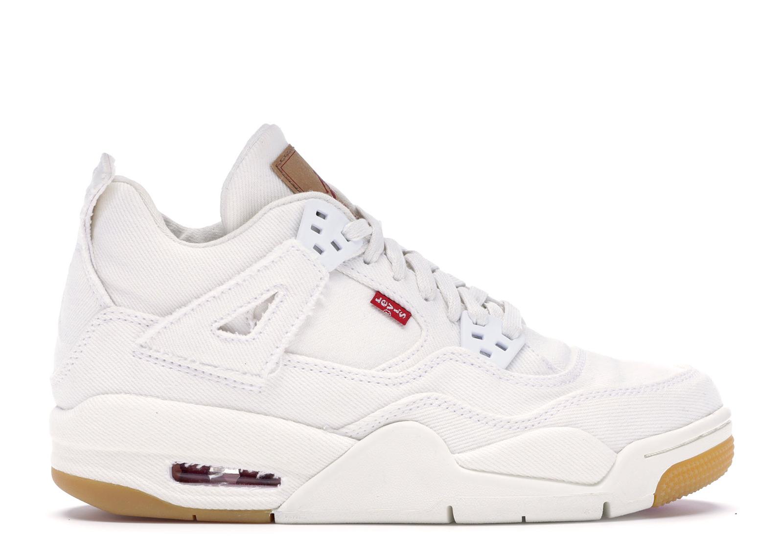 Jordan 4 Retro Levi's White (GS) (Levi