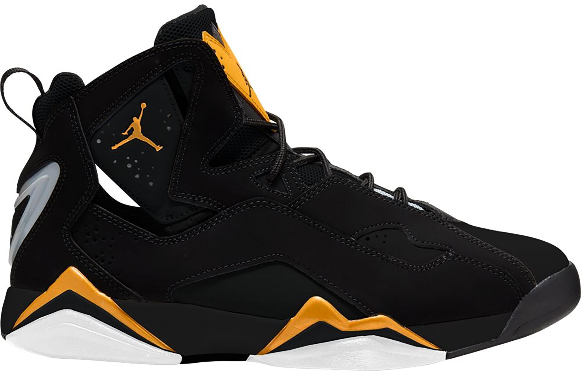 Jordan True Flight Black Metallic Gold